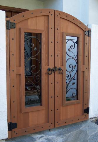 Wood Gates Arched Yard Custom Redwood See Through